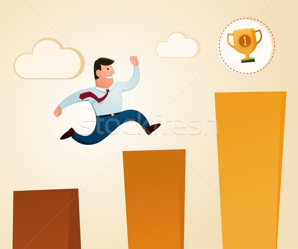 награда прыжки трофей Top уровень этап Сток-фото © riedjal