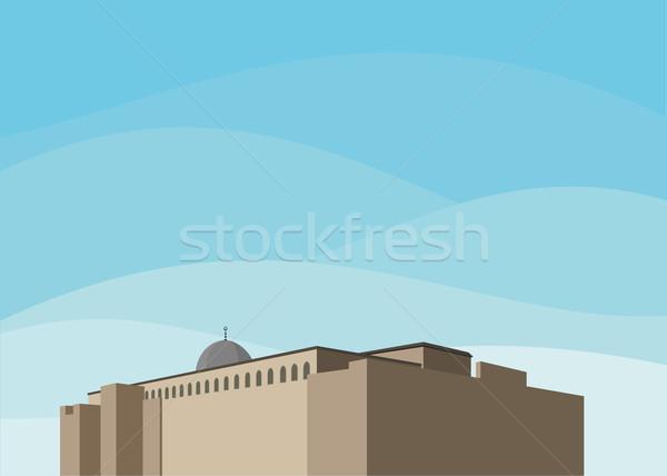 Festung ethnischen Kuppel rock Burg Stock foto © riedjal