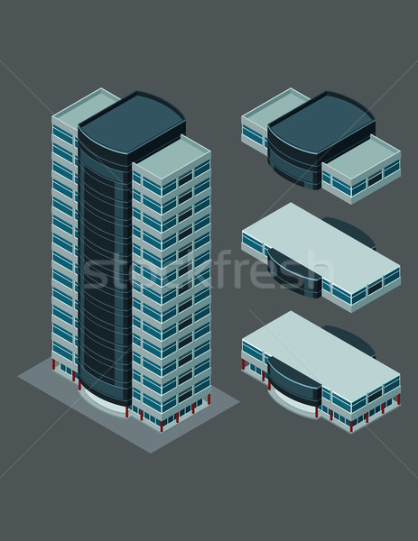 Stock photo: isometric modern building