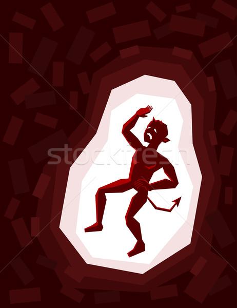 ловушке демон внутри клетке блокировка тюрьмы Сток-фото © riedjal