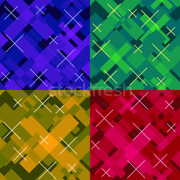 colorful seamless cross pattern Stock photo © riedjal