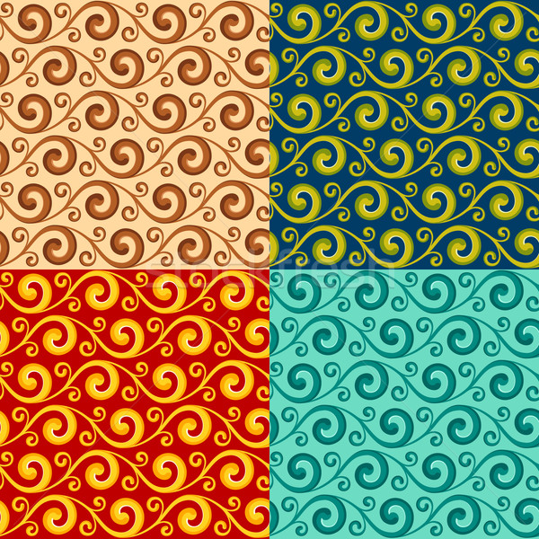 Stock photo: swirly pattern