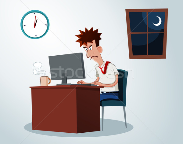 working overtime Stock photo © riedjal