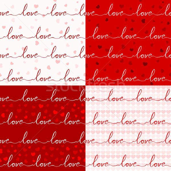 различный любви шаблон бесшовный романтические цель Сток-фото © riedjal