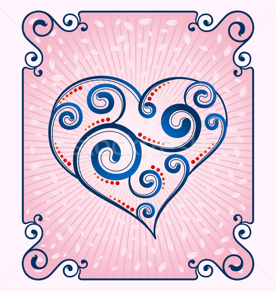 decorative heart symbol Stock photo © riedjal