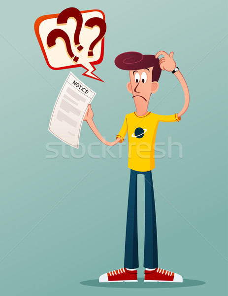 notification letter Stock photo © riedjal