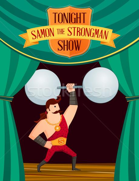 создают этап улыбка цирка баланса шоу Сток-фото © riedjal