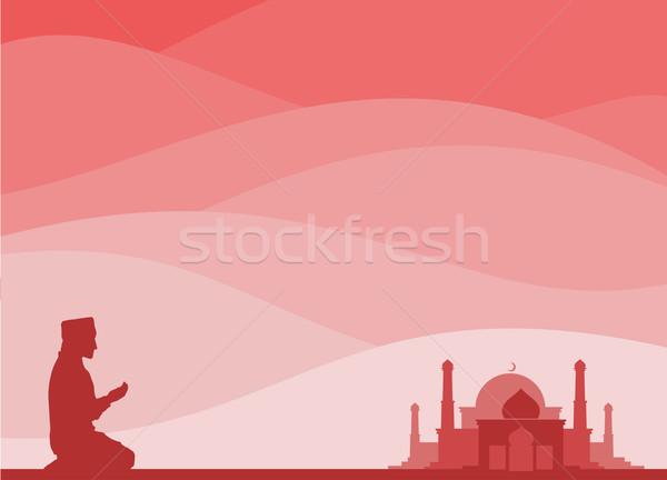 muslim praying Stock photo © riedjal