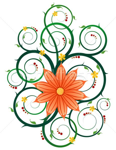 Floral Ornament Rundschreiben Reben Kunstwerk romantischen Stock foto © riedjal