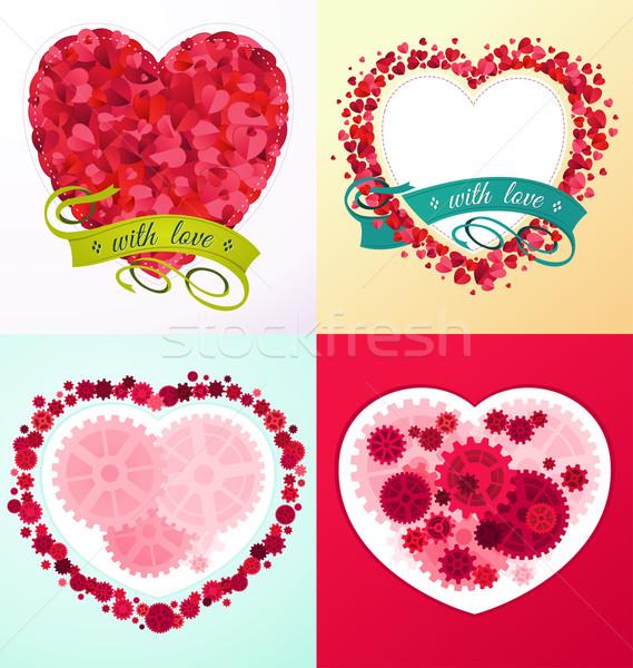 Unterschiedlich Liebe Ornament romantischen Zweck Veranstaltung Stock foto © riedjal