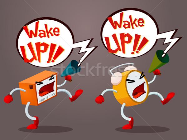 Screaming Alarm Stock photo © riedjal