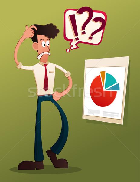 Business führen jungen Geschäftsmann Büro Stock foto © riedjal