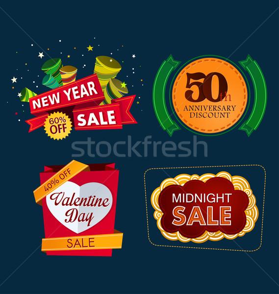 Unterschiedlich Verkauf Veranstaltung farbenreich Banner Vorlage Stock foto © riedjal