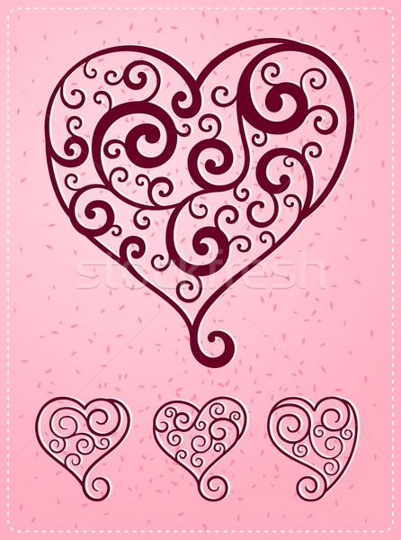 various heart symbol Stock photo © riedjal