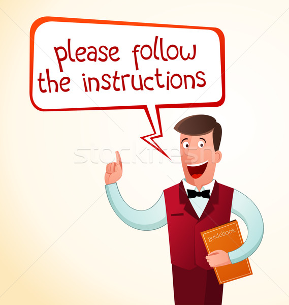 Stock photo: give an instruction