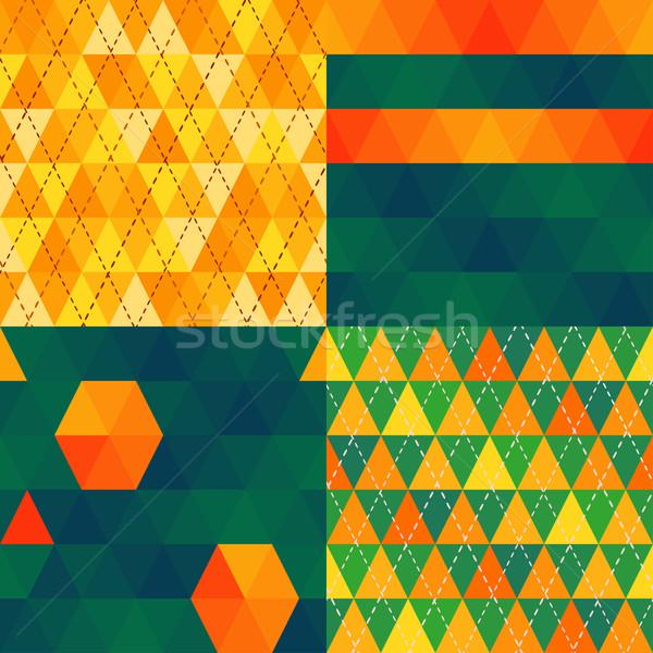triangle pattern Stock photo © riedjal
