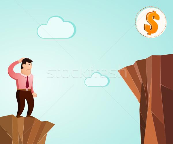 Denken Erfolg schauen Dollar herausfordern Champion Stock foto © riedjal