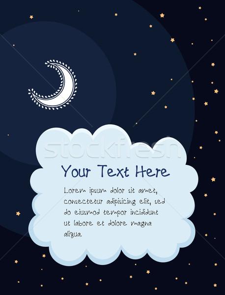 starry night cartoon background Stock photo © riedjal