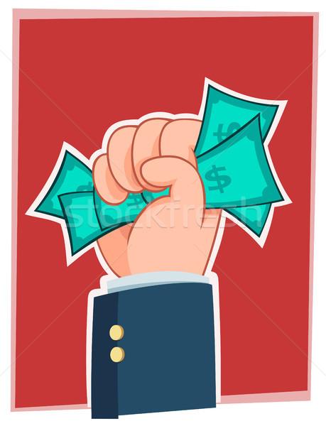 handfull of money Stock photo © riedjal