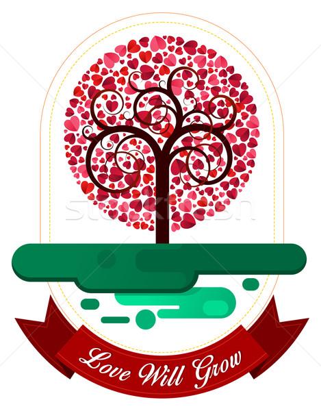 Kombination Herz Baum Ornament unterschiedlich Zweck Stock foto © riedjal
