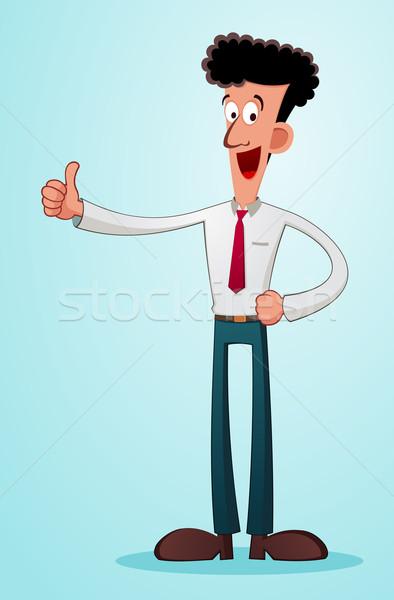 молодые бизнесмен давать похвалу большой палец руки Сток-фото © riedjal