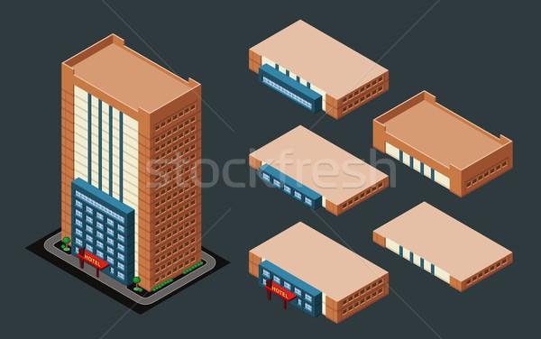 Isometric Hotel Stock photo © riedjal