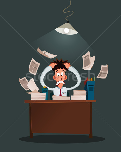 stressed worker Stock photo © riedjal