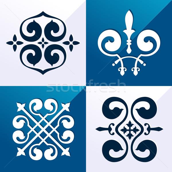 Középkori embléma dísz klasszikus különböző cél Stock fotó © riedjal