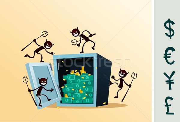 безопасной депозит окна вора иллюстрация Сток-фото © riedjal