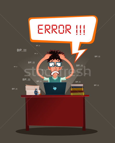 stressed programmer Stock photo © riedjal