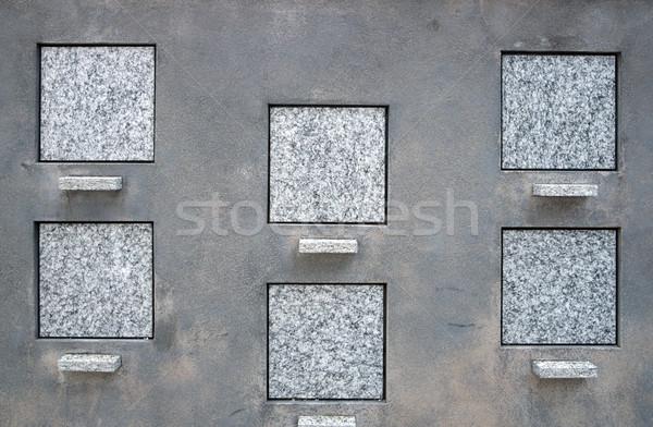 квадратный готовый кадр каменные плитка серьезную Сток-фото © rmarinello