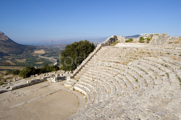 The Theater of Segesta in Sicily Stock photo © rmarinello