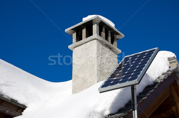 Mountain solar panel Stock photo © rmarinello