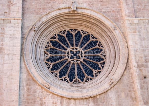 Rose window of the Duomo of Trento Stock photo © rmarinello