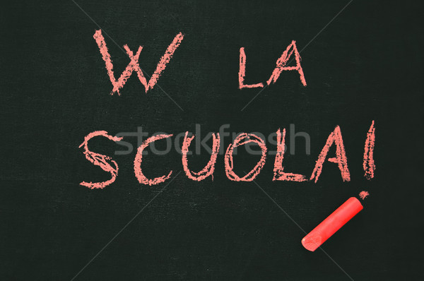 школы доске красный мелом Сток-фото © rmarinello