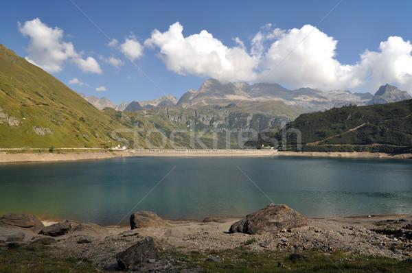Alpine hydroelectric basin Stock photo © rmarinello