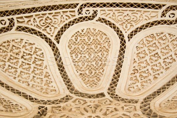 Moorish style stucco background Stock photo © rmarinello