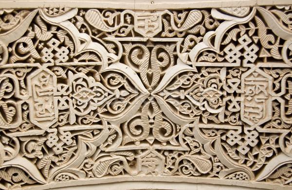 Style stuc détail texture bâtiment fond Photo stock © rmarinello