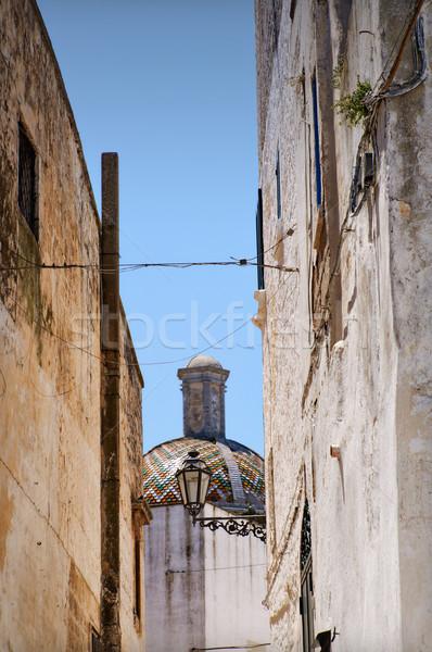 Cityscape полоса старый город белый город купол Сток-фото © rmarinello