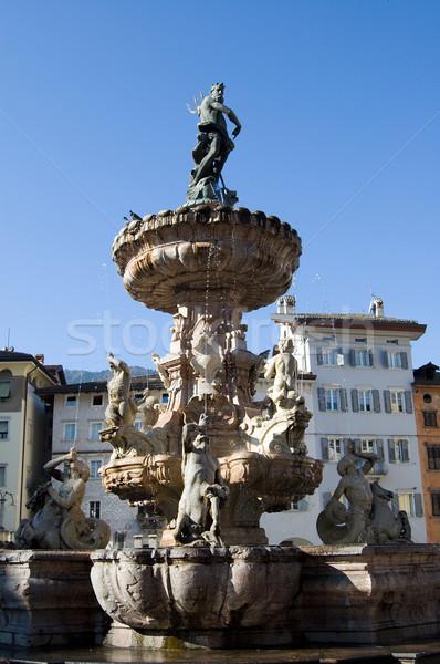 trento fontana di Nettuno Stock photo © rmarinello