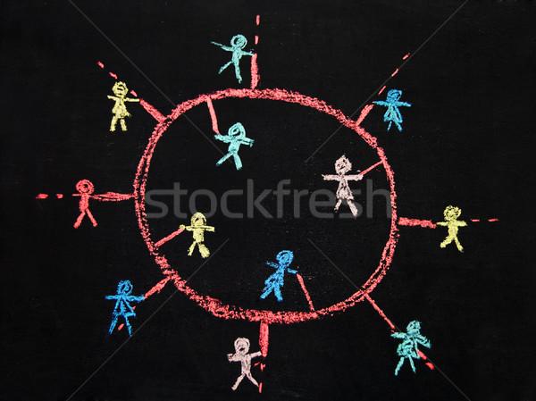 социальной сетей люди эскиз Сток-фото © rmarinello