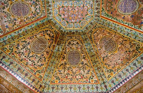 окрашенный потолок дворец древесины окна Сток-фото © rmarinello
