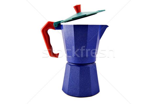 синий красный обрабатывать изолированный белый кофе Сток-фото © rmarinello