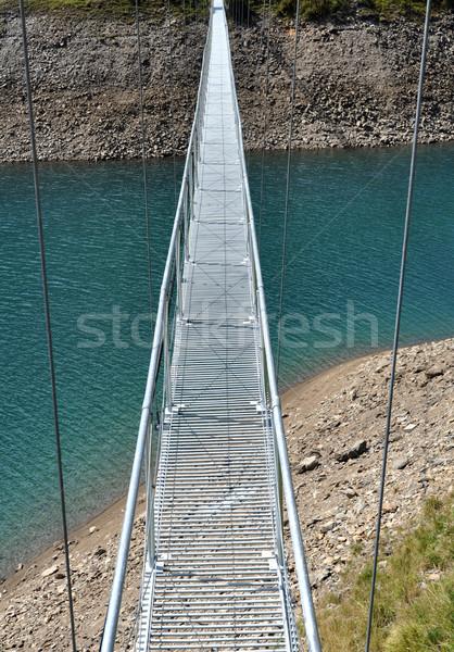 Alpino passarela lago natureza montanha ponte Foto stock © rmarinello