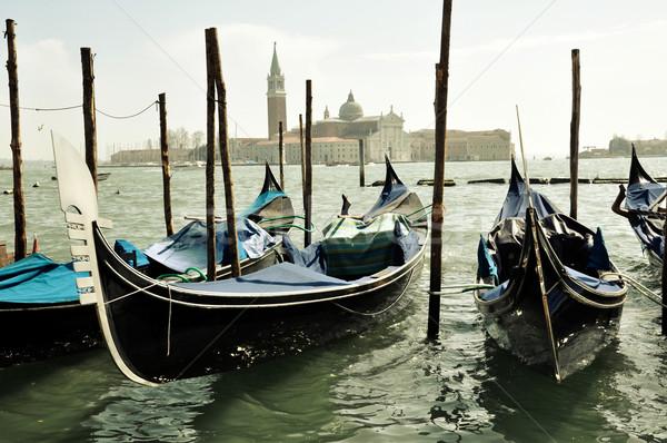 Gondole Venezia San Giorgio Maggiore Stock photo © rmarinello