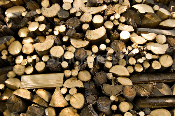 stacked wood logs Stock photo © rmarinello