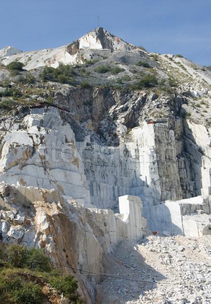 Open quarry of white marble Stock photo © rmarinello