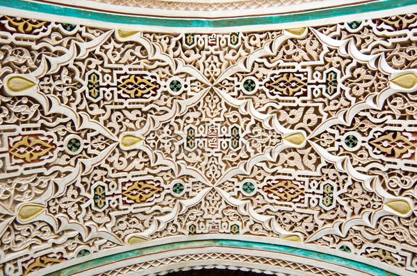 Style stuc détails palais bâtiment design Photo stock © rmarinello