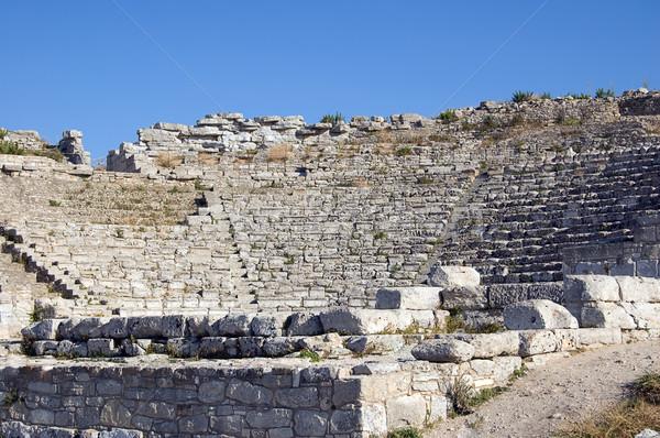Teatro sicilia Italia piedra arquitectura historia Foto stock © rmarinello