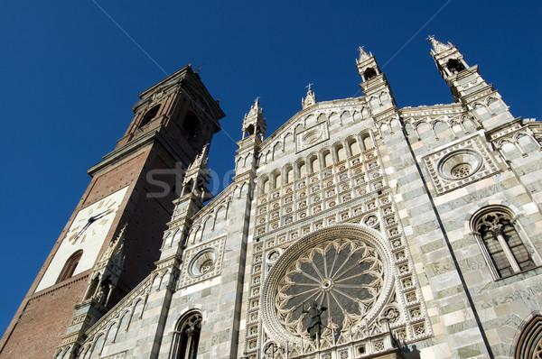 фасад закрывается окна здании Церкви мрамор Сток-фото © rmarinello